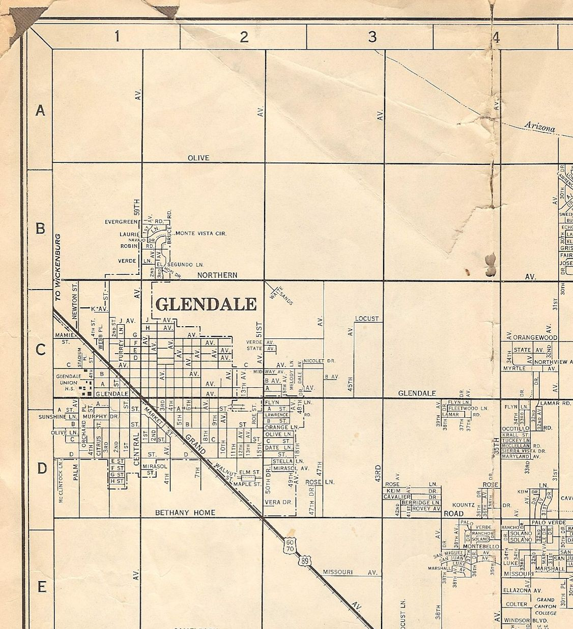 Glendale AZ 1957 Map | AZ Maps / Transit | Arizona, Phoenix, Map on klondyke arizona map, baderville arizona map, deer valley arizona map, st george arizona map, reno arizona map, havasu city arizona map, chino arizona map, big bear lake arizona map, santa fe arizona map, humboldt arizona map, eagle creek arizona map, mesquite arizona map, glendale az, tampa florida map, boise arizona map, gilbert arizona map, greasewood arizona map, hidden valley arizona map, mesa arizona map, north valley arizona map,