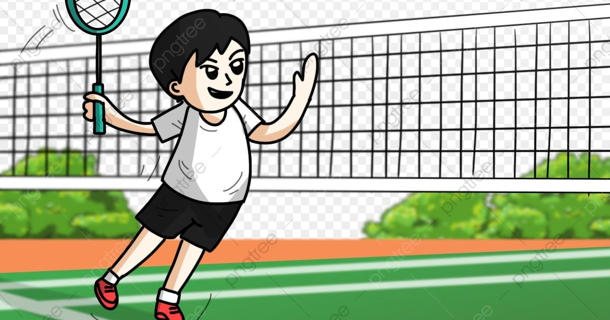 30 Gambar Kartun Olahraga Sport Competitive Badminton Sport Men White And Black Pants Download Gambar Kartun Anak Sedang Olahrag Gambar Kartun Kartun Gambar