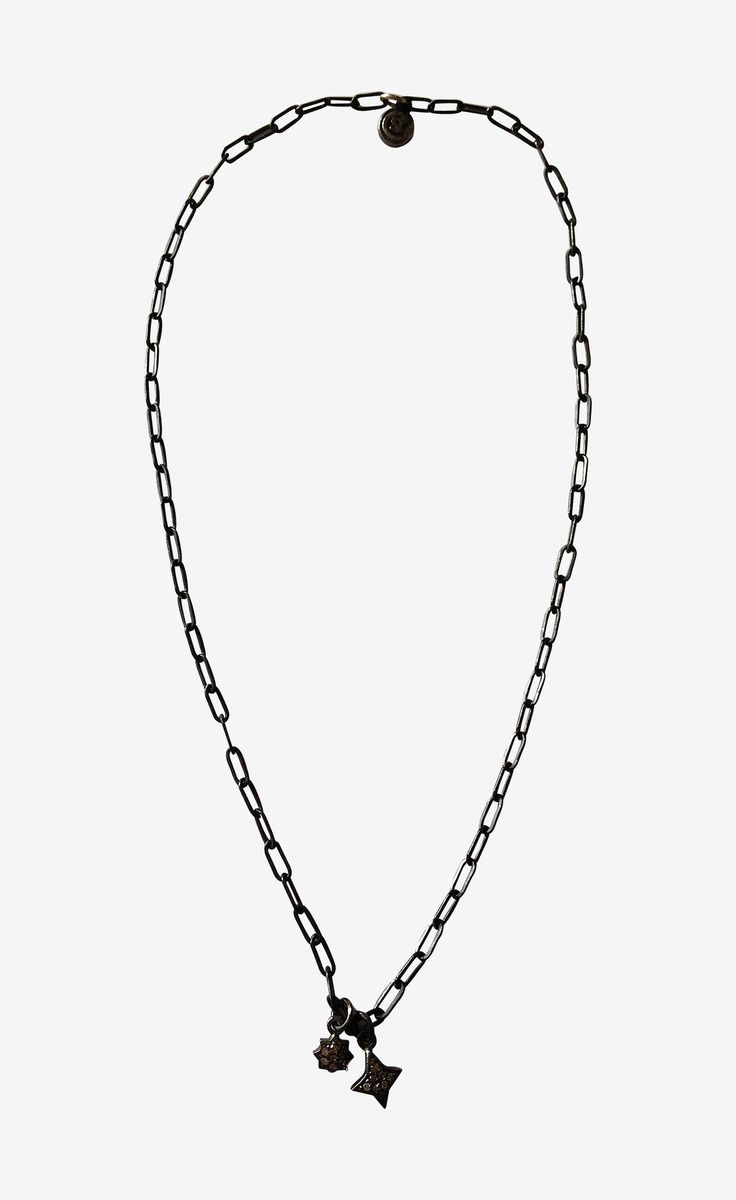 Silver Continent Fine Jewelry Diamond Two Stars Necklace | VAUNTE