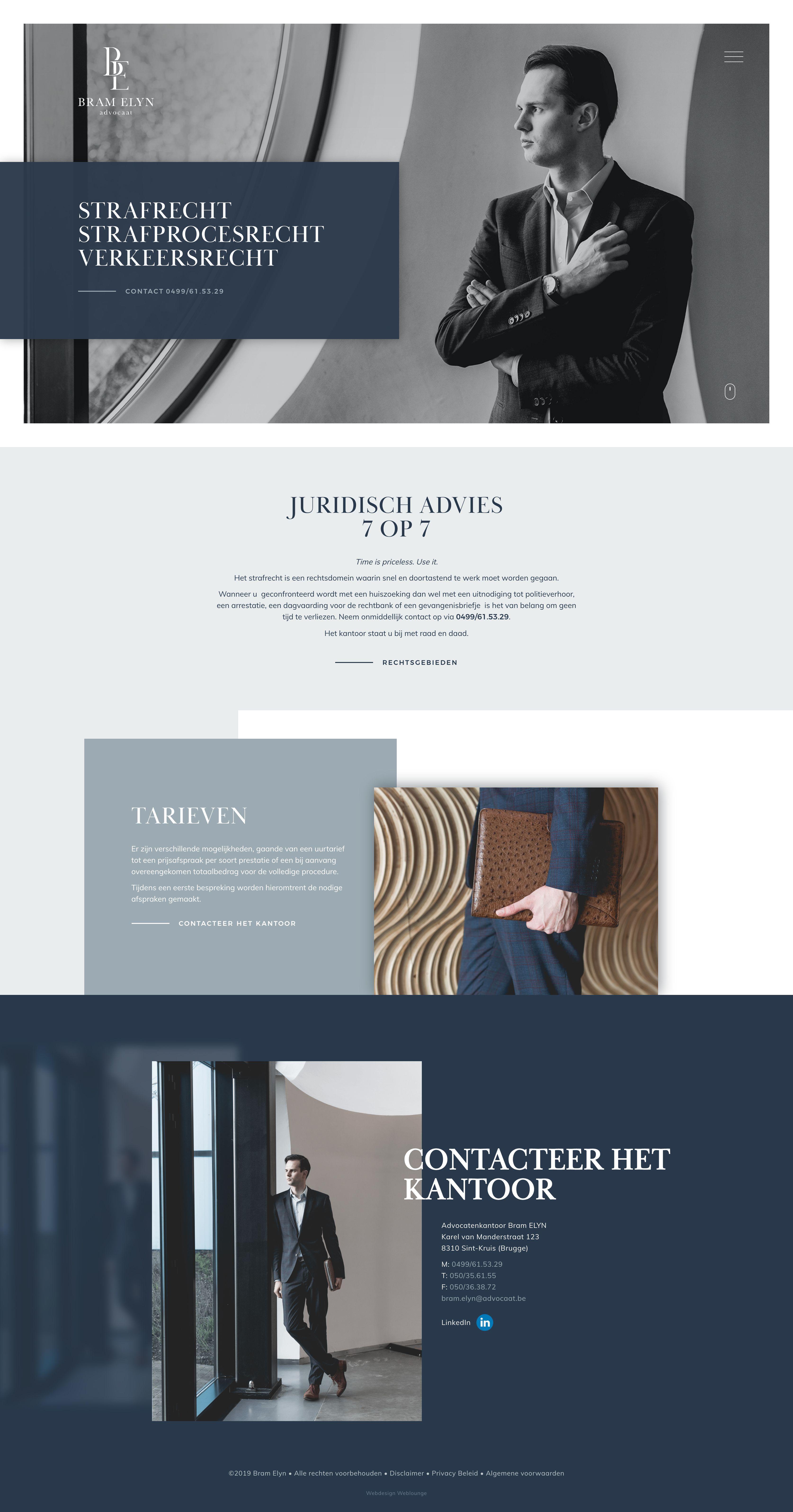Law Firm Elyn In Bruges Webdesign Weblounge Corporate Website