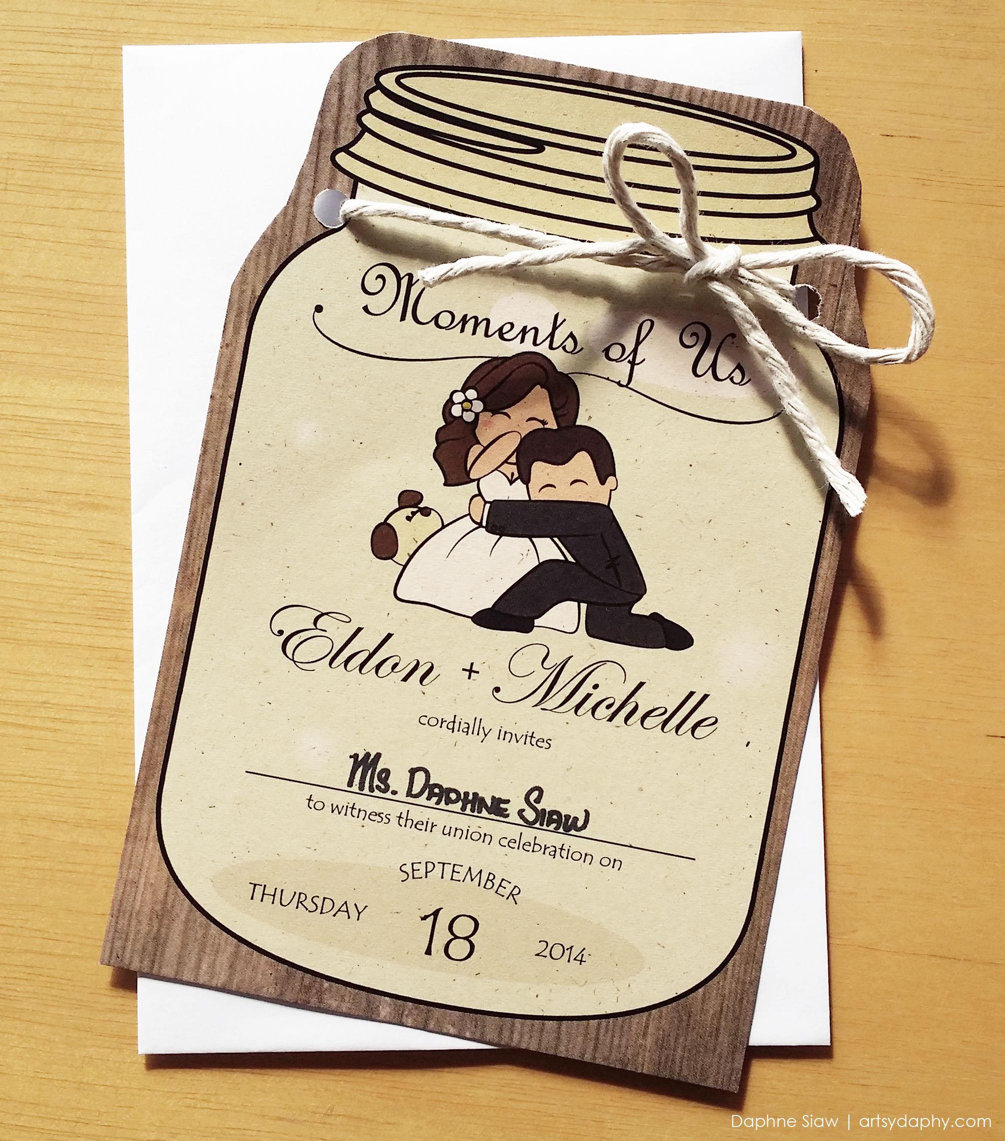 Cute Wedding Invitation: Cute Wedding Invitation Card Designed For Eldon & Michelle