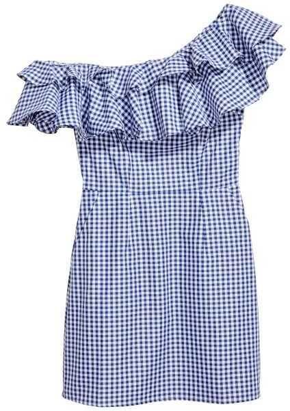 H&M Short Flounced Dress | Kurze blaue kleider, Frauen ...