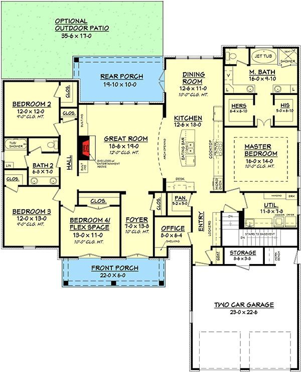 Plan Out A Room plan 51700hz: spacious 4 bed acadian house plan   powder room