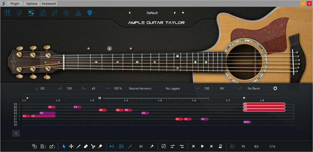 Ample Sound Ample Guitar T V3 2 0 Win Mac Guitar Slide Guitar Tablature