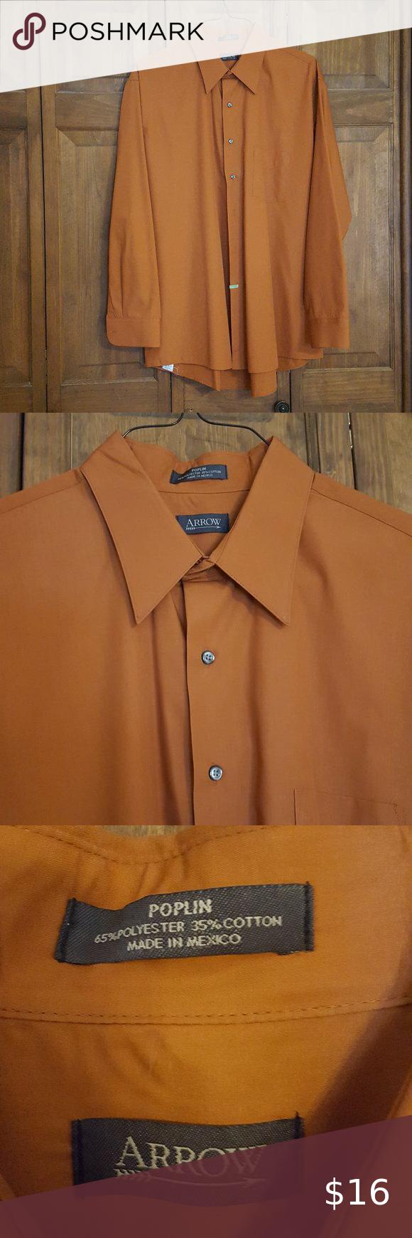 Arrow Burnt Orange Button Down Dress Shirt Xxlg Online Shopping Clothes Women Shirts Button Down Dress [ 1740 x 580 Pixel ]