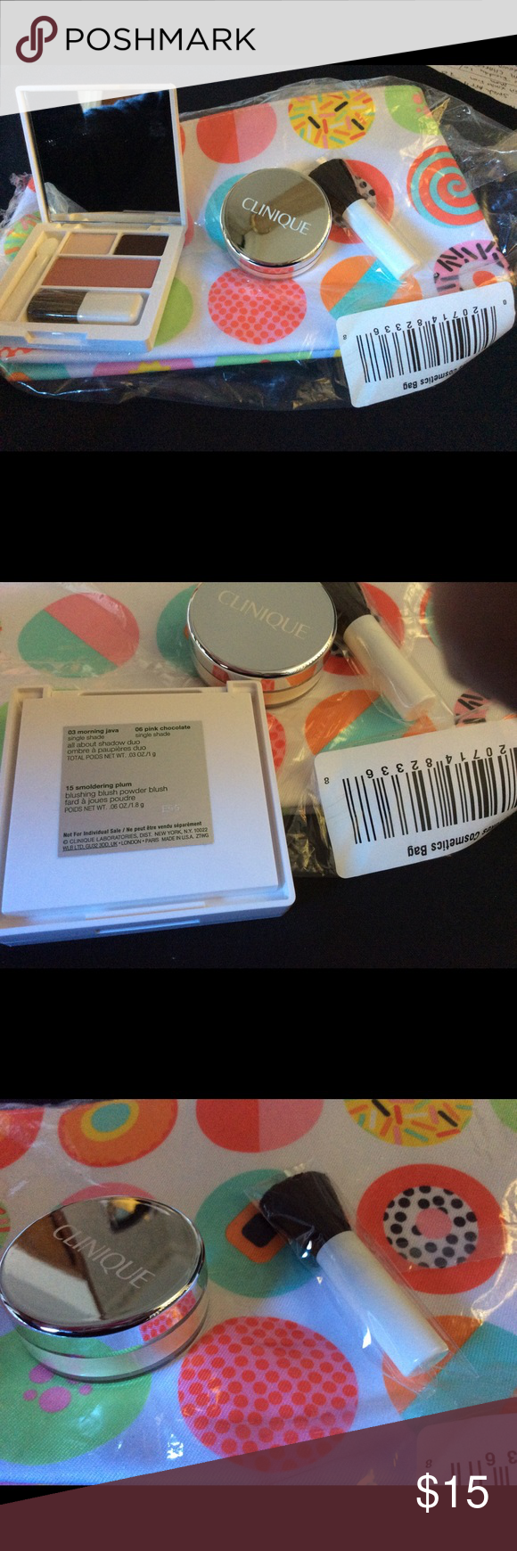 Clinique 1 Redness Solution, 1 Blush & Eye & A Bag This