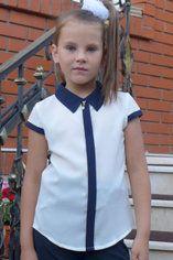 """Блузка для девочки """"Планка-короткий рукав""""(молоко) 325003321"""