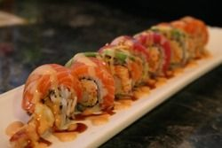 Shrimp Tempura Sushi Roll.