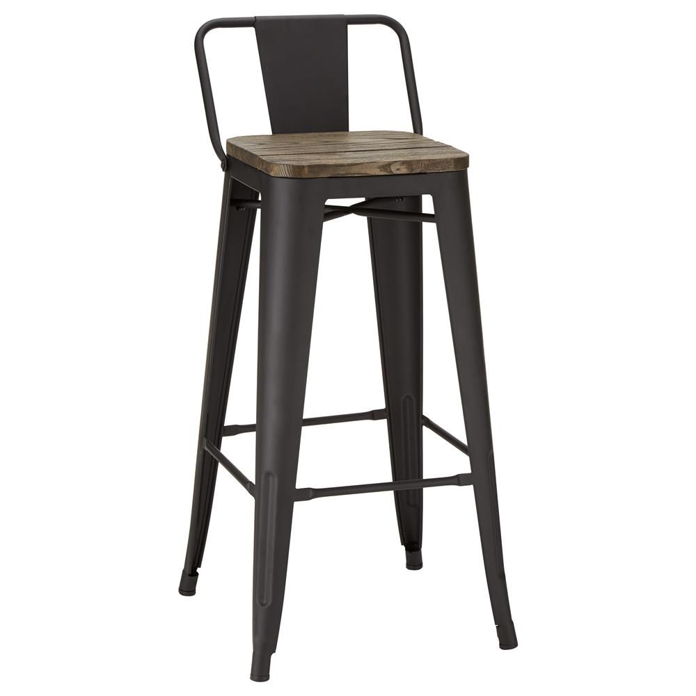 Rustic Wood and Metal Bar Stool/Bar Stools/Furniture|Bouclair.com ...