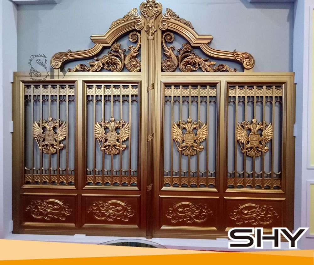 17 Elegant Gates To Transform Your Yard Into Inviting Place: Garden-aluminium-fence-modern-gate-design-philippines.jpg