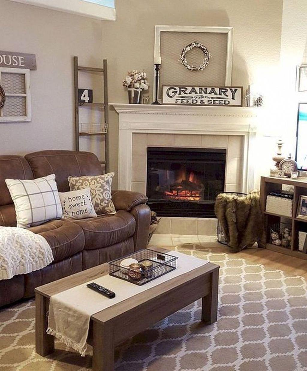 46 Cozy Living Room Ideas And Designs For 2019: 46 Cozy Farmhouse Living Room Decor Ideas That Make You