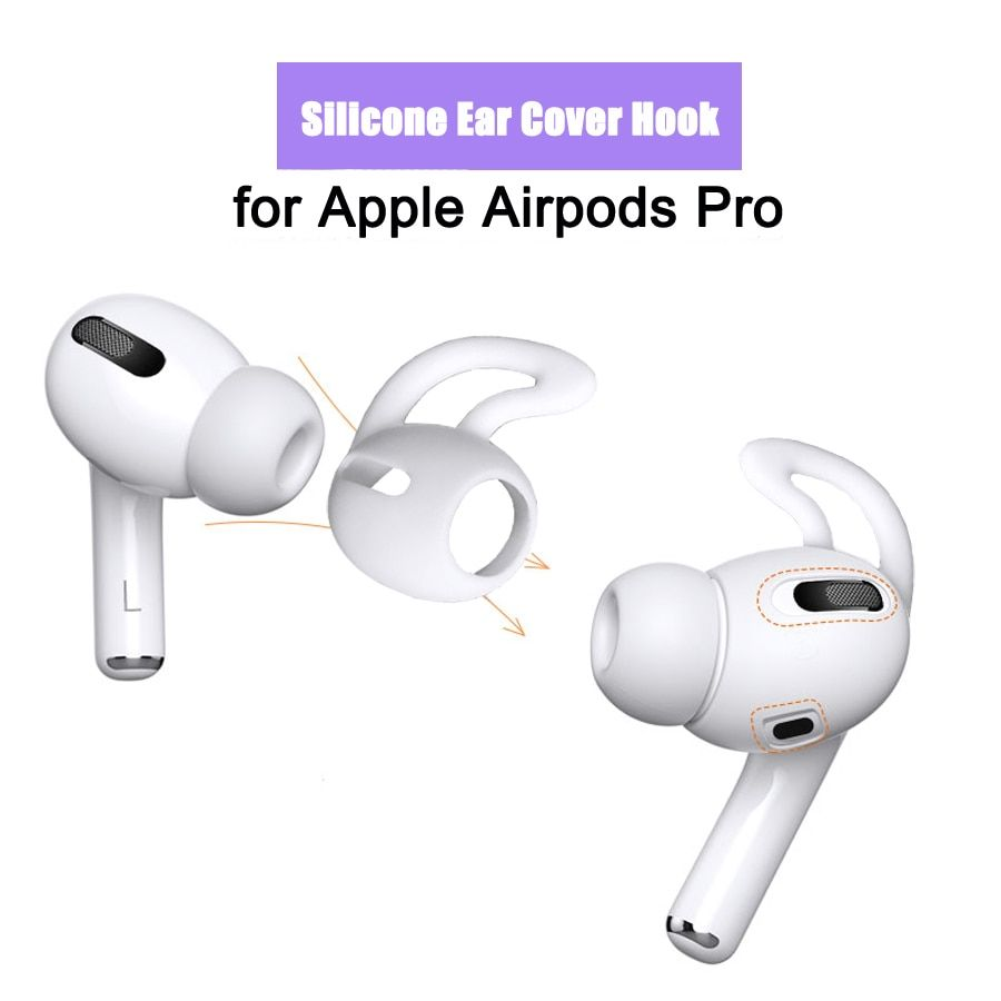 Silicone Earbuds Case For Airpods Pro Anti Lost Eartip Ear Hook Cap Earbuds Case Earbuds Bluetooth Earphones