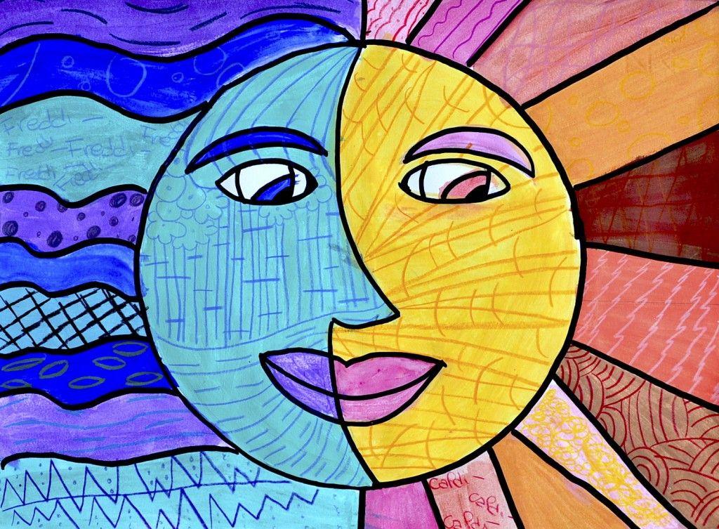 Sole E Luna A Colori Caldi E Freddi Arte Del Colore Lezioni Di