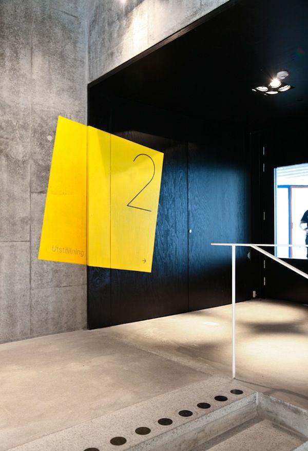 Graphic Signage For Sweden\'s Kalmar Kunstmuseum | .IN | SIGNAGE ...