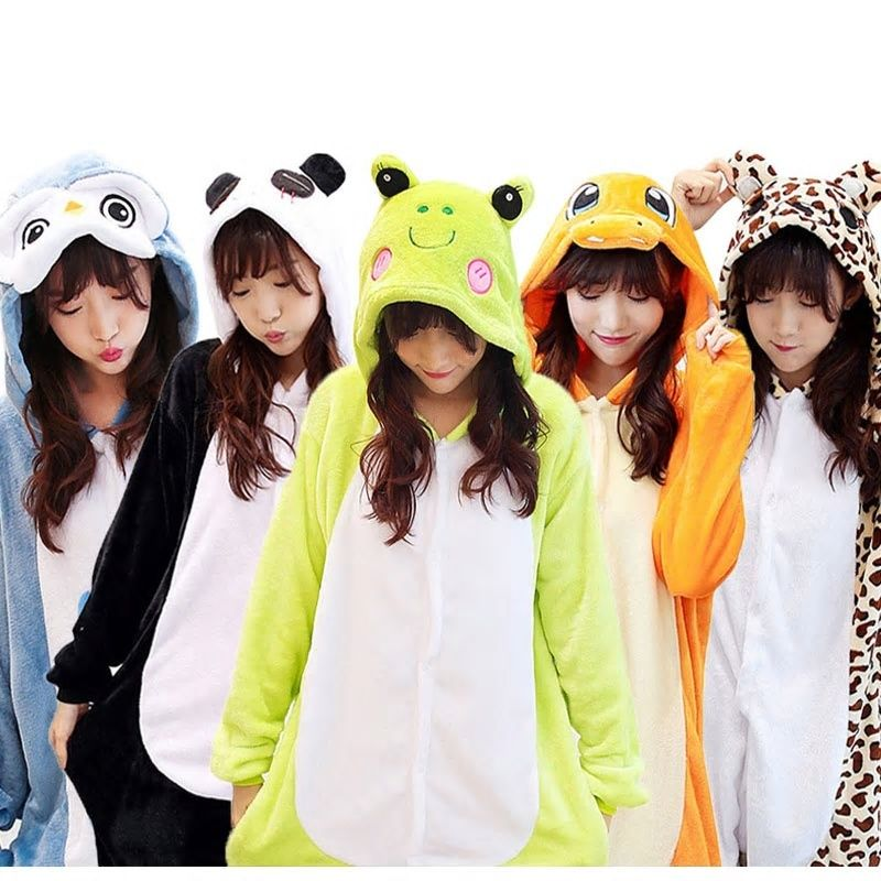 Women's Sleepwears Cute Cartoon Kungfu Panda Pajamas For Women Adult Animal Onesie Flannel Long Sleeve Hoodie Winter Pyjama Warm Sleepwear Pijama