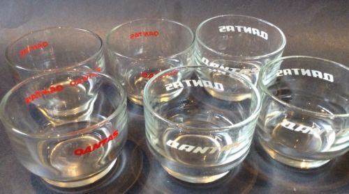 Vintage Qantas Australian Airlines Wine Drink Glasses x 6 Aviation Collectibles in Collectables, Souvenirs | eBay