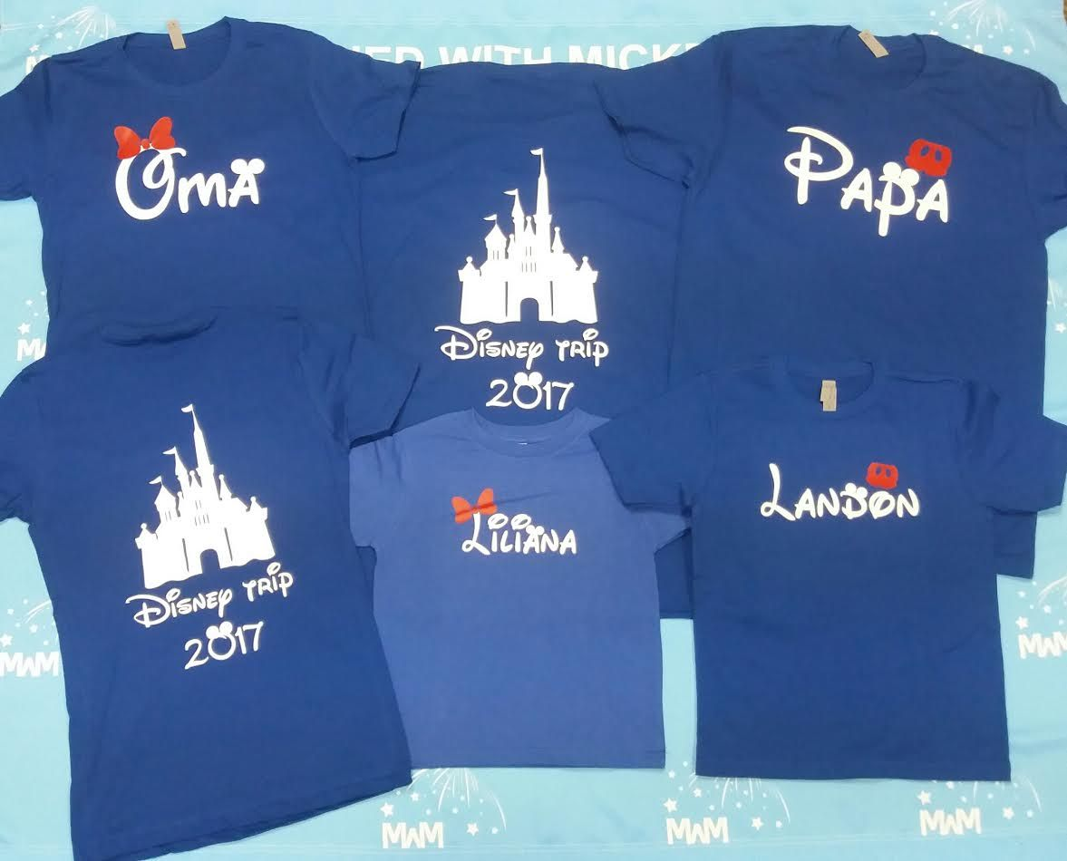 eb8365257 Family Matching Disney Shirts, Mom/Dad, Son/Daughter (get as many shirts as  you need) Disney Cinderella Castle, Family Trip, Vacation, Weekend Custom  Date, ...