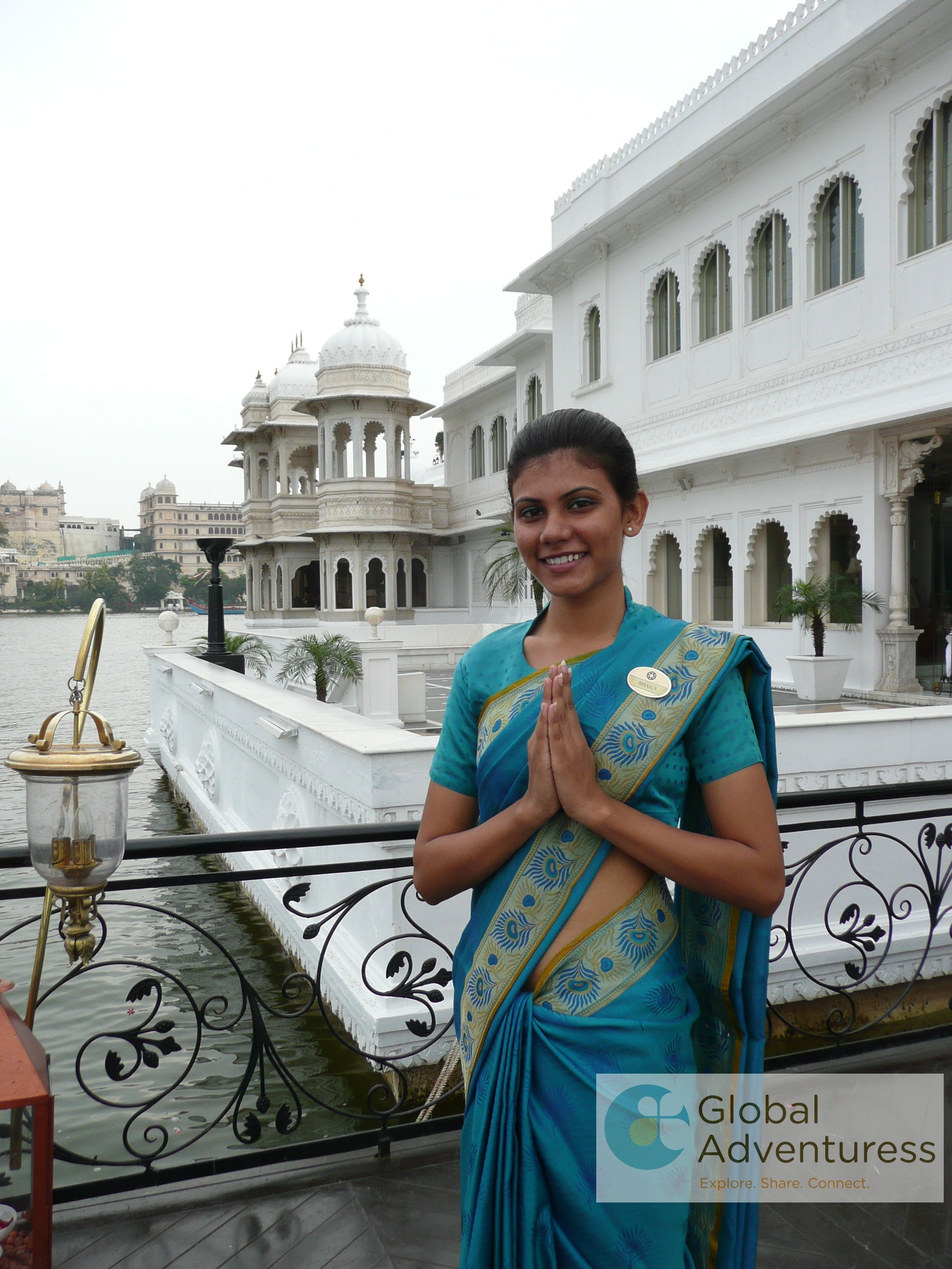 A royal welcome at Taj Floating Lake Palace Hotel in Udaipur.  #Udaipur, #India, #TajFloatingLakePalace
