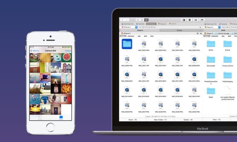 Commander One as iOS file manager iOS filemanager macOS