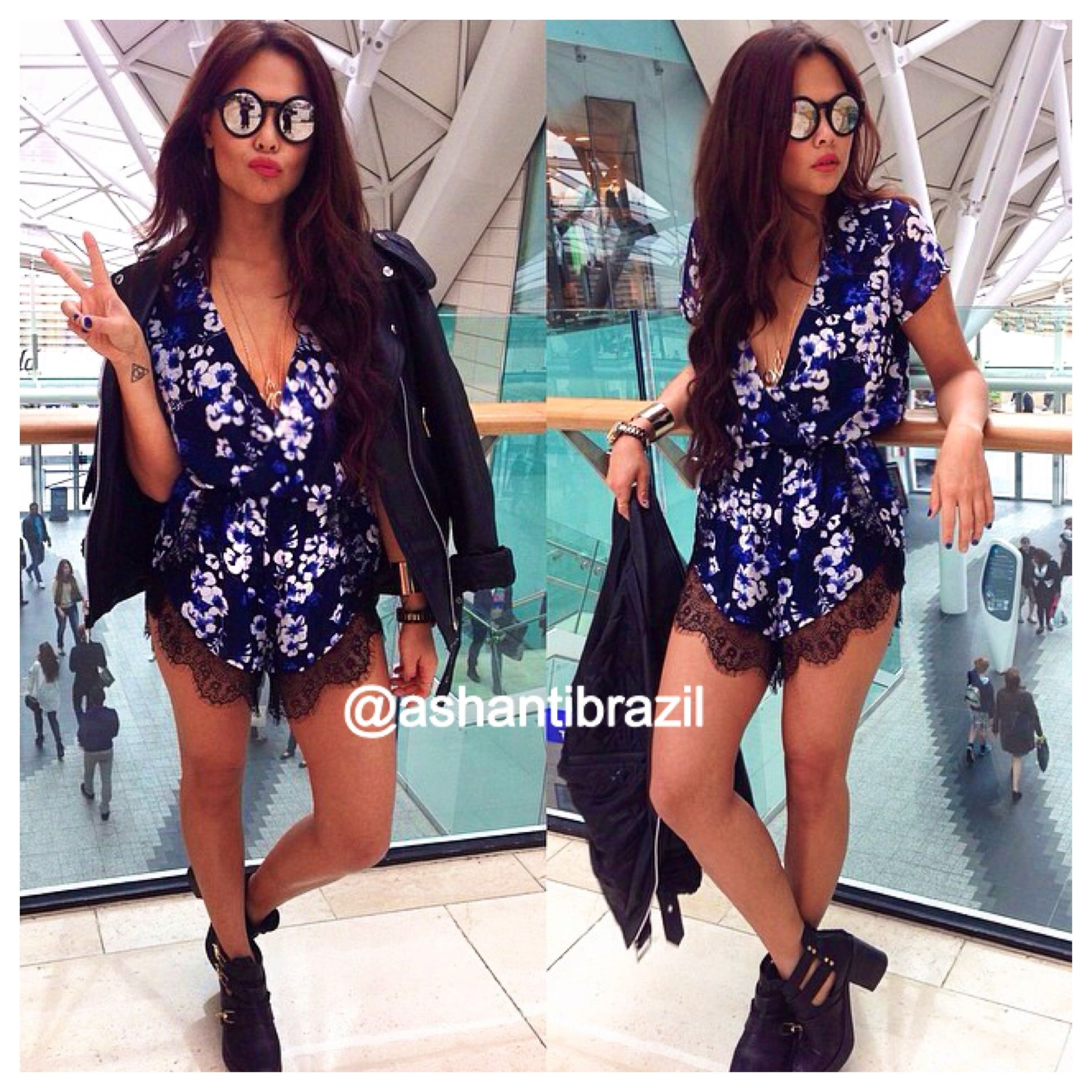 White Floral Playsuit /Romper from Ashanti Brazil - Shop