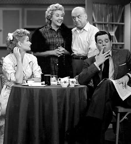 Fred and Ethel Mertz (William Frawley and Vivian Vance), I ...