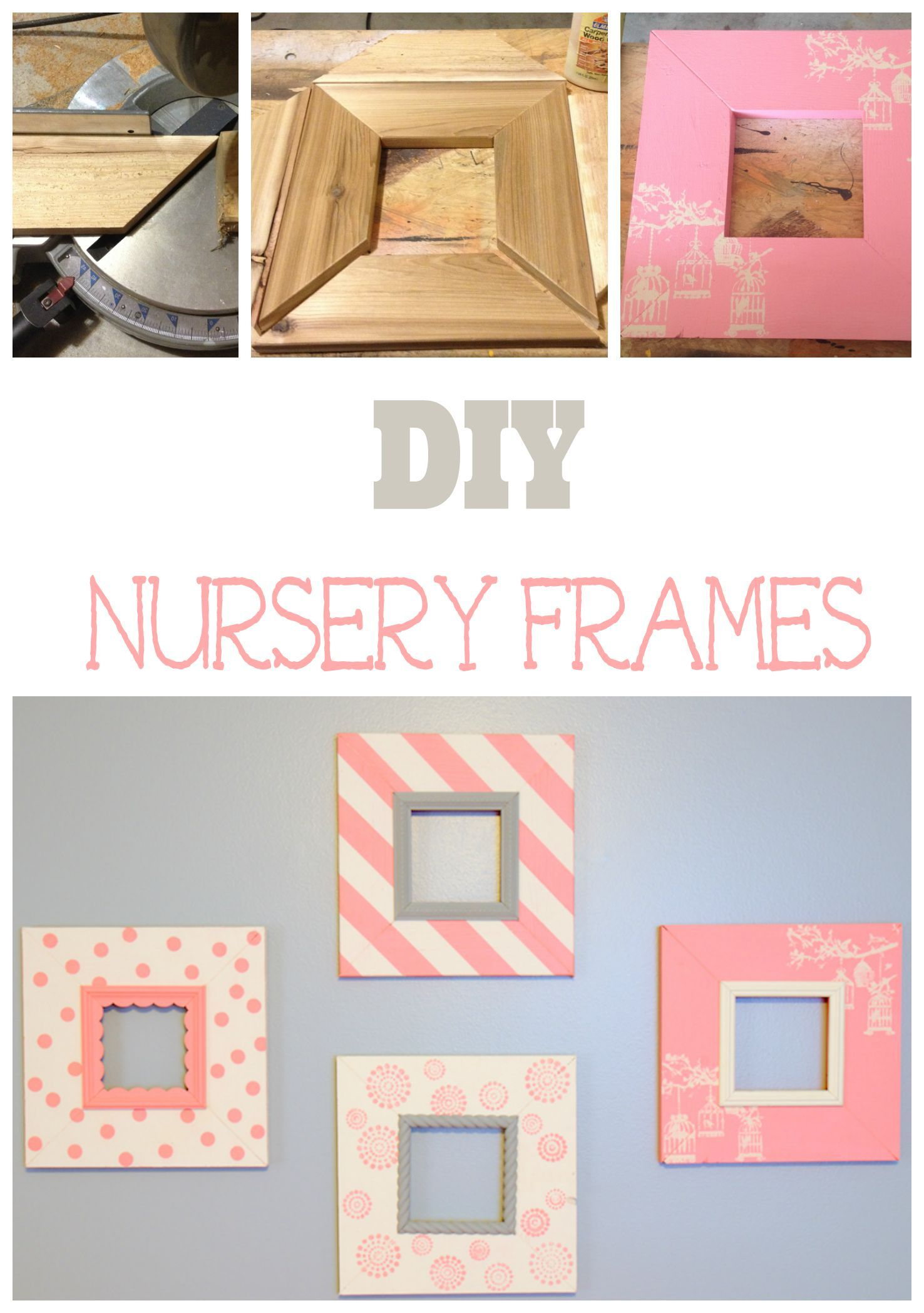 Pretty In Pink Diy Nursery Picture Frames Diy Nursery Frames