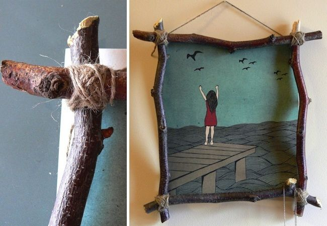 DIY Picture Frame - Weekend Projects | Twiggy, Twig crafts and Crafts