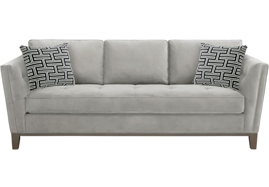 Park Boulevard Smoke Plush Sofa
