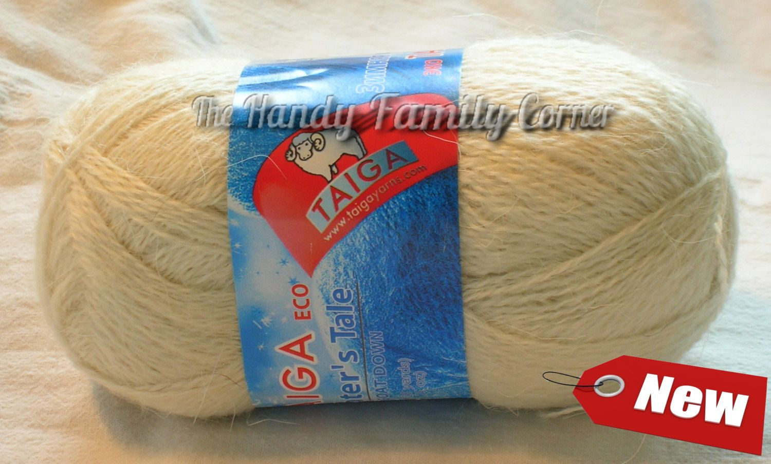 Wool yarn off white color