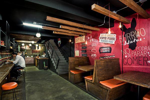 Restaurante Barrita Burrito Dise O Interior On Behance