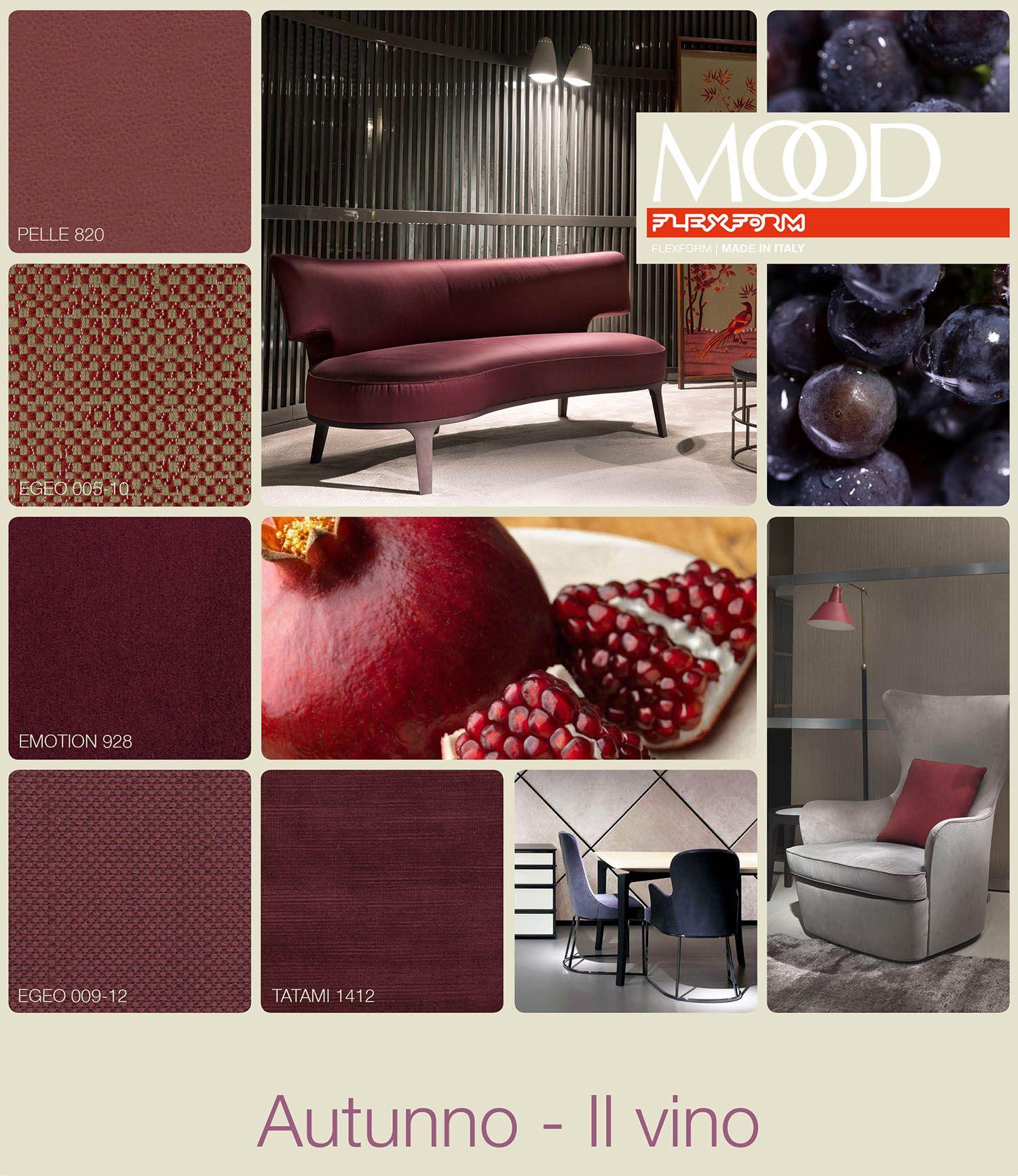 Flexform Mood Fall Wine Inspiration Colour Materials Flexform Eames Lounge Chair Mood Board Inspiration