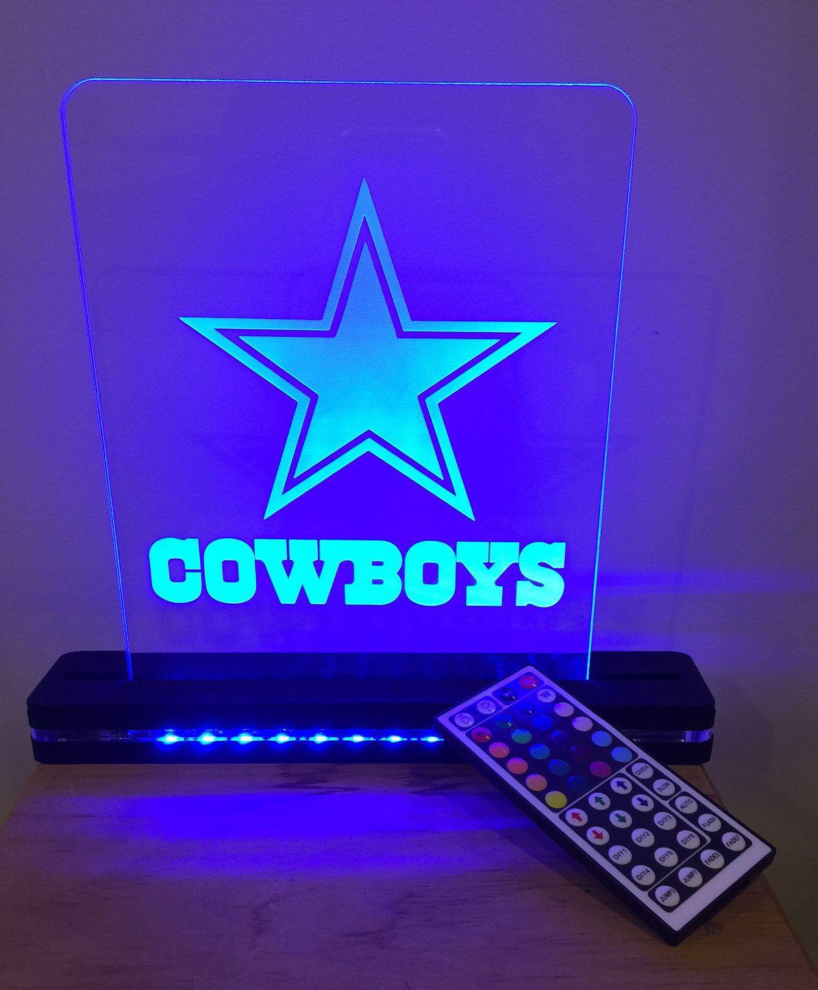 82fa2b2e Dallas Cowboys NFL Football Lighted LED Acrylic Sign by CCHobby on ...