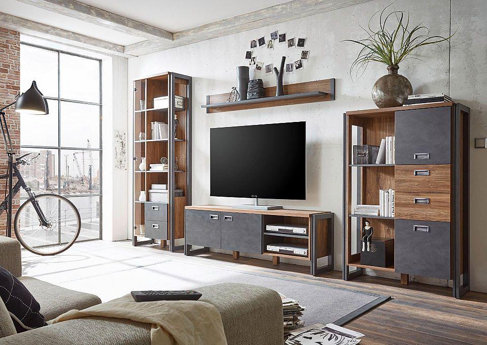 Home affaire Wohnwand (4tlg.) »Detroit Set 4« im angesagten ...