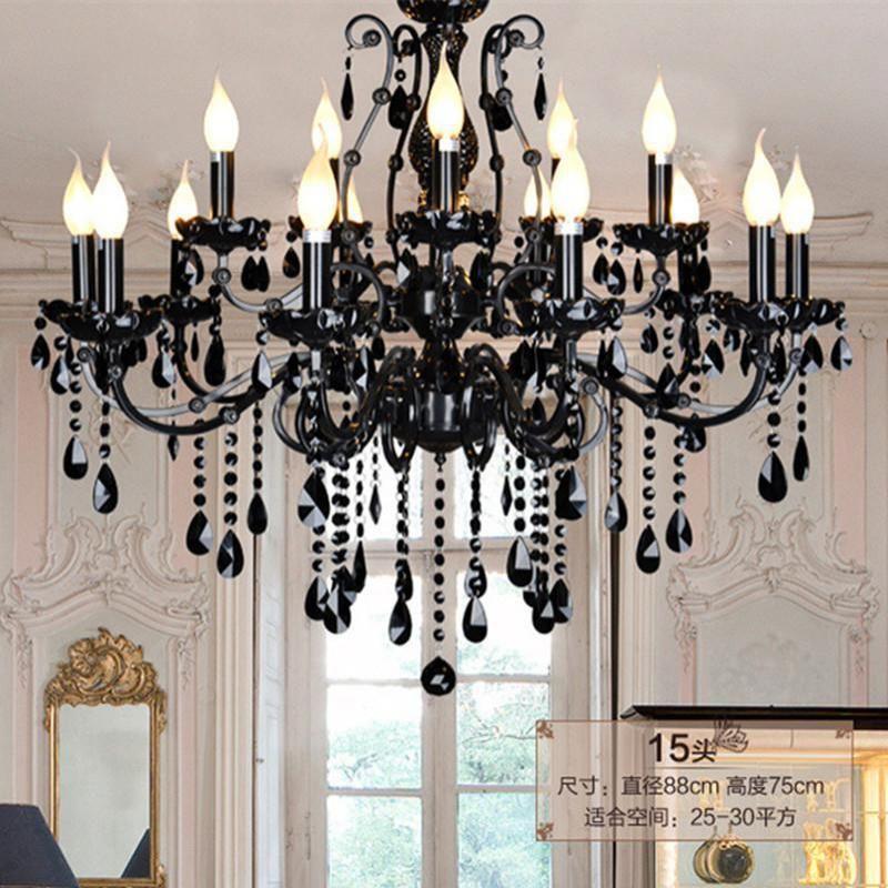 Black Traditional Chandelier For Dinig Room Bar Lighting Indoor