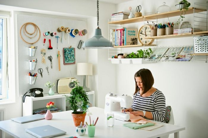 wandfarbe weiß wandgestaltung wanddekoration kreative arbeit - wandfarbe schlafzimmer weisse möbel