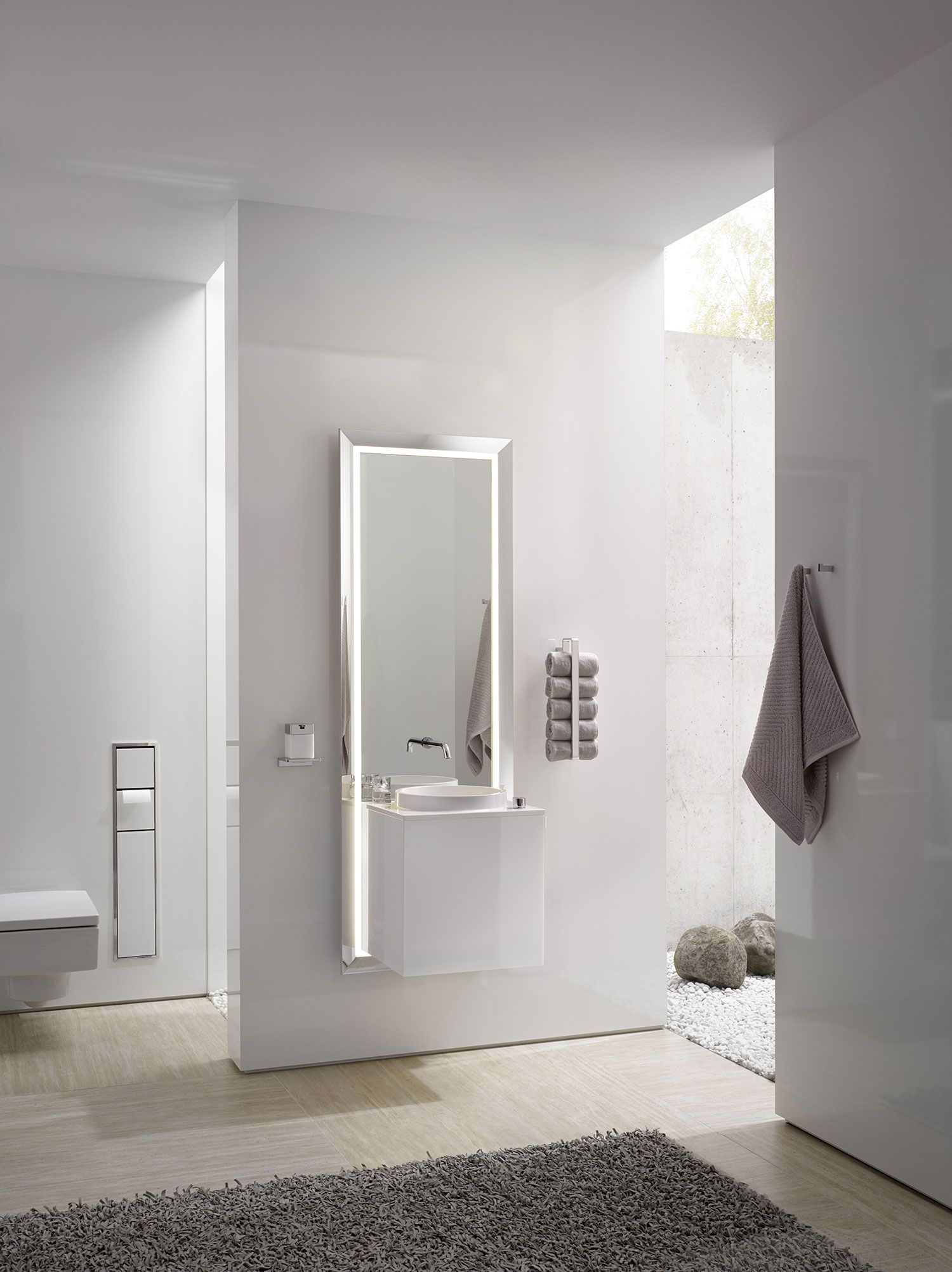 Pure Touch by C.P. Hart is an all-in-one bathroom unit, complete ...