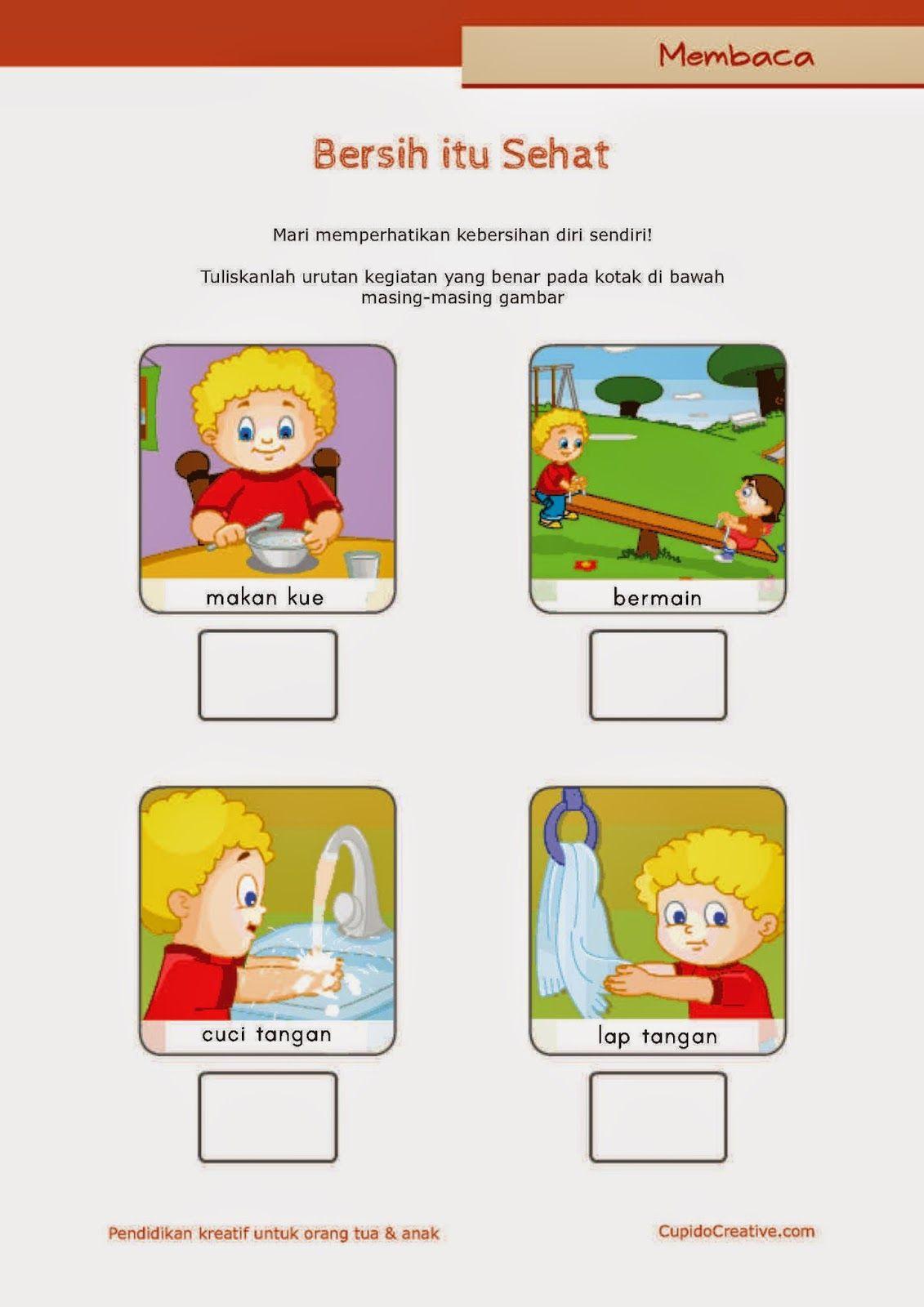 Belajar Membaca Untuk Sd Kelas 1 Belajar Kebersihan Pribadi Untuk Anak Cuci Tangan Setelah