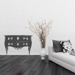 Sticker Commode Style Baroque - Décoration Chambre baroque moderne ...