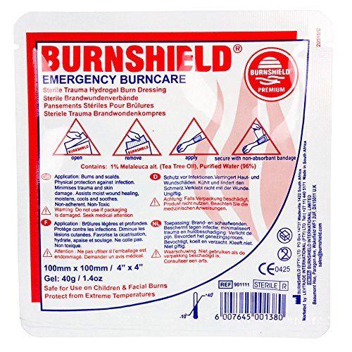 Burnshield Premium Sterile Emergency Burn Dressing 4X4 10Cm X 10Cm