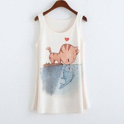 59e7c885f89 New Casual Women Plus Size Tops Summer Sleeveless Basic Vest Graphic  Flowers Printed Women Tank Top Loose Vintage Women s Tanks