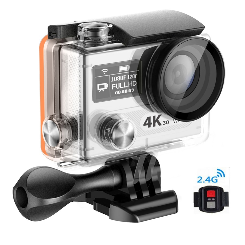 """74.99$  Watch here - http://ali5jv.shopchina.info/1/go.php?t=32814701911 - """"Original WIFI Action Camera With Motion Detection 2.0""""""""+0.95""""""""Dual Display HD Sport Camera 4k Cameras Digital H8 Series""""  #aliexpresschina"""