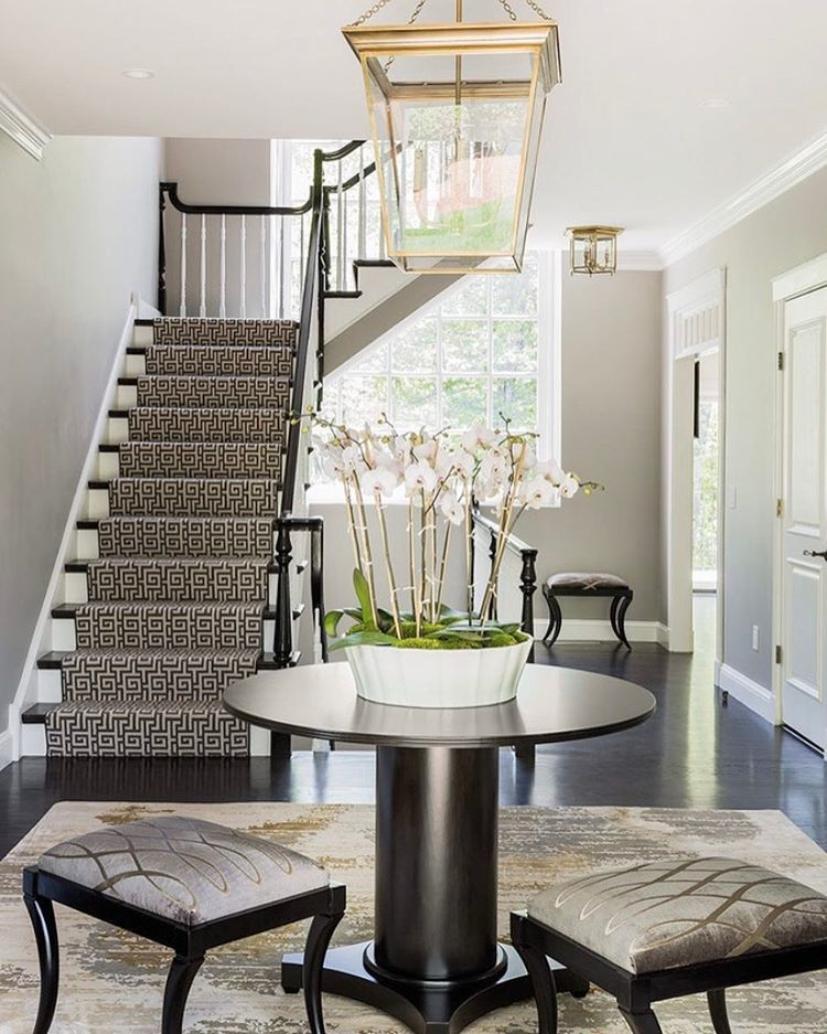 Staircase Ideas For Your Hallway That Will Really Make An: Stark 'Beaton' #stairrunner Is A Sure Way To Make A Bold