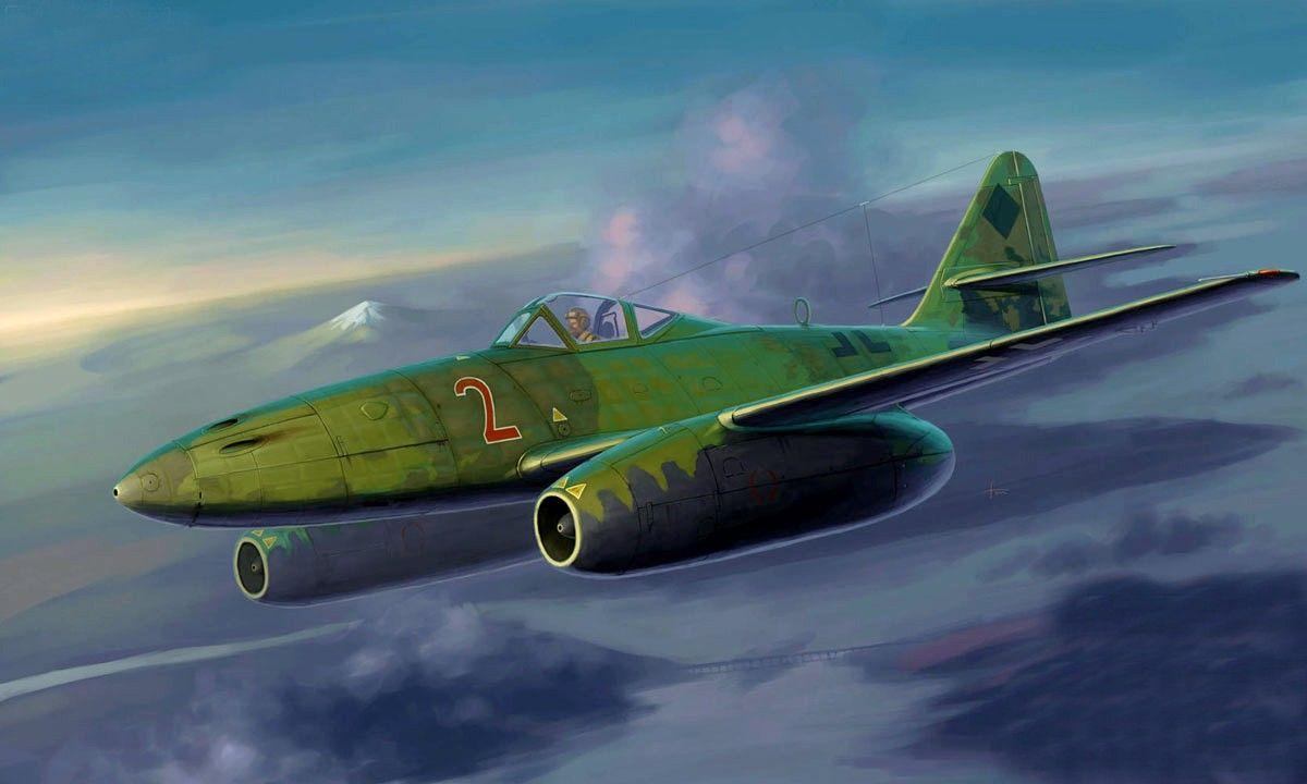 Messerschmitt ME-262A-1a Vintage Aircraft Art Print 13 x 19