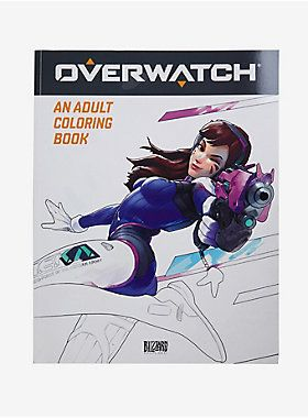 Overwatch An Adult Coloring Book Is Epic Volume Of Art Capturing The Spirit And Wonder Blizzard Entertainments Critically Acclaimed Video Game