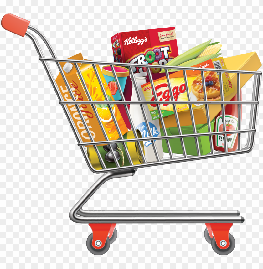 Shopping Cart Computer Icons Shopping Cart With Groceries Png Image With Transparent Background Png Free Png Images Shopping Clipart Grocery Shop Supermarket