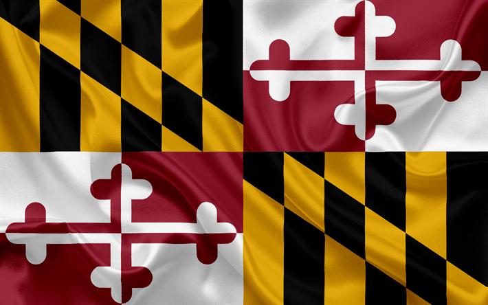 Download Wallpapers Maryland Flag Flags Of States Flag State Of Maryland Usa State Maryland Silk Flag Besthqwallpapers Com Maryland Estados Dos Estados Unidos Bandeiras