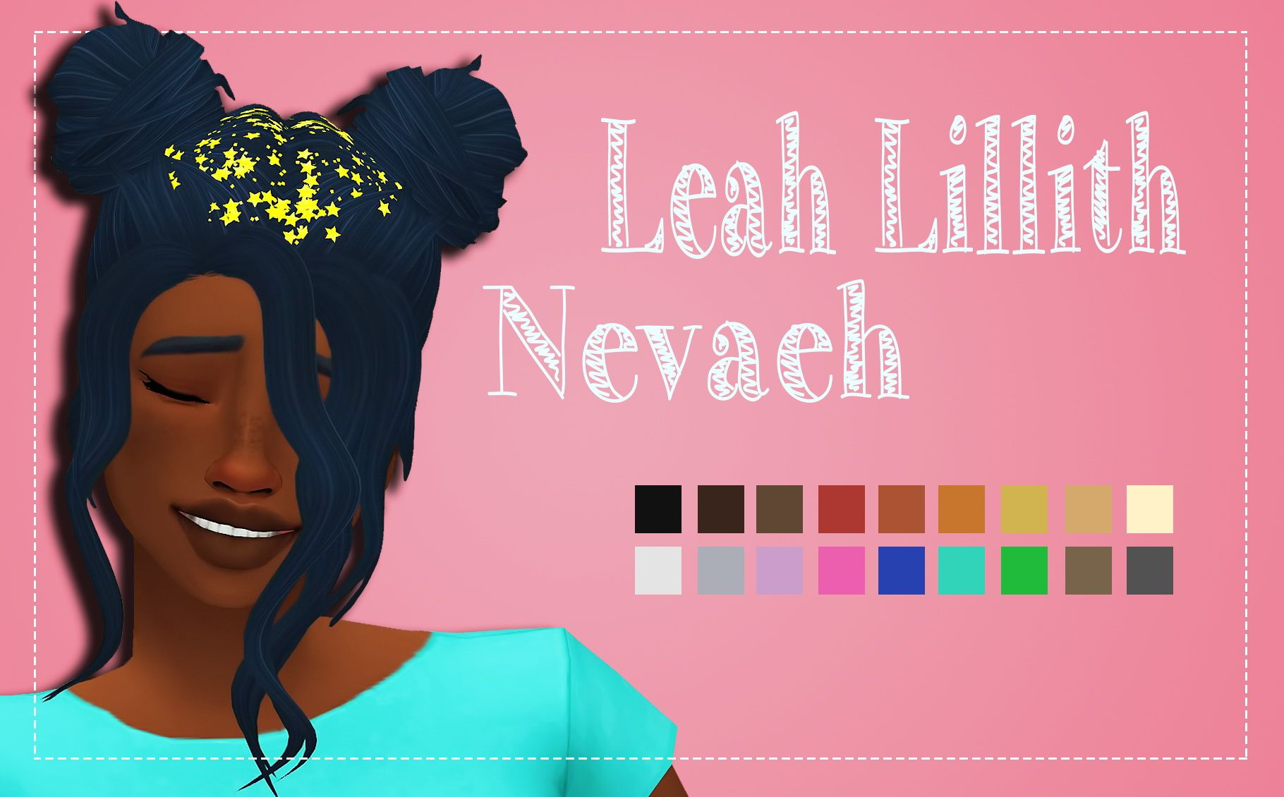Simsworkshop: LeahLillith's Nevaeh Clayified  - Sims 4 Hairs - http://sims4hairs.com/simsworkshop-leahlilliths-nevaeh-clayified/