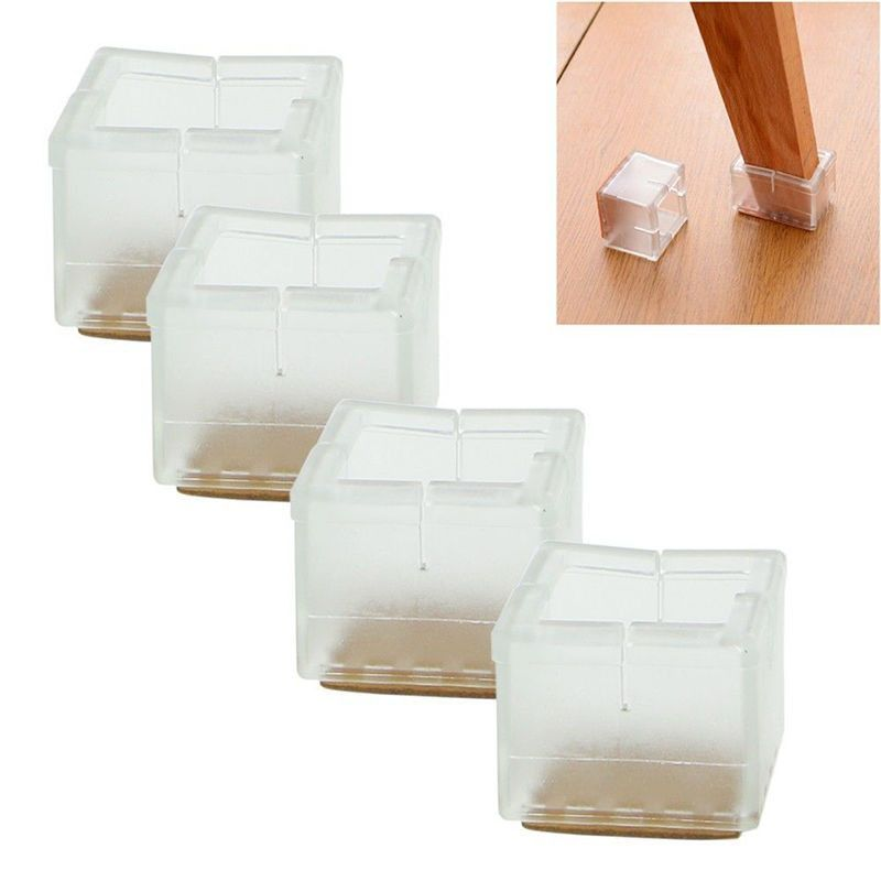 Pads For Chair Legs Glider Parts Bearings 2017 Real Rushed Coffee Furniture Leg High Quality 4pcs Square Caps Rubber Feet Protector Covers