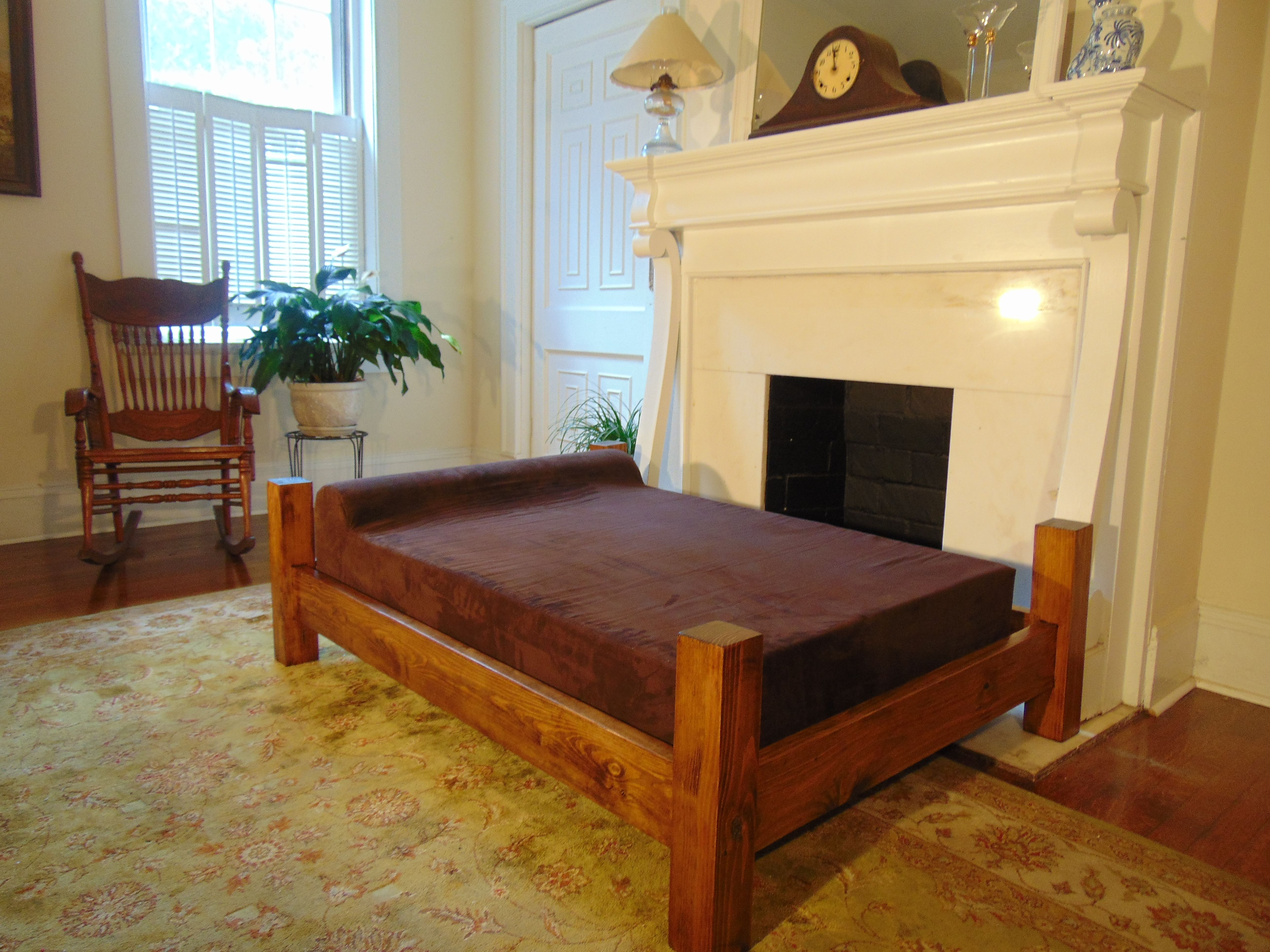 GoliathPets.com Extra Large Dog Bed With Solid Wood Frame
