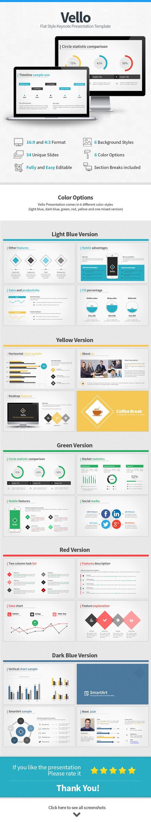Vello Flat Style Keynote Presentation — Keynote KEY #modern #flat • Available here → https://graphicriver.net/item/vello-flat-style-keynote-presentation/11177726?ref=pxcr